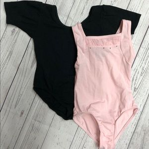 Dance leotards and reversible skirt size 4/5